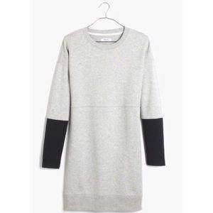 Madwell Gray Color Block Jumpstart Sweater Dress